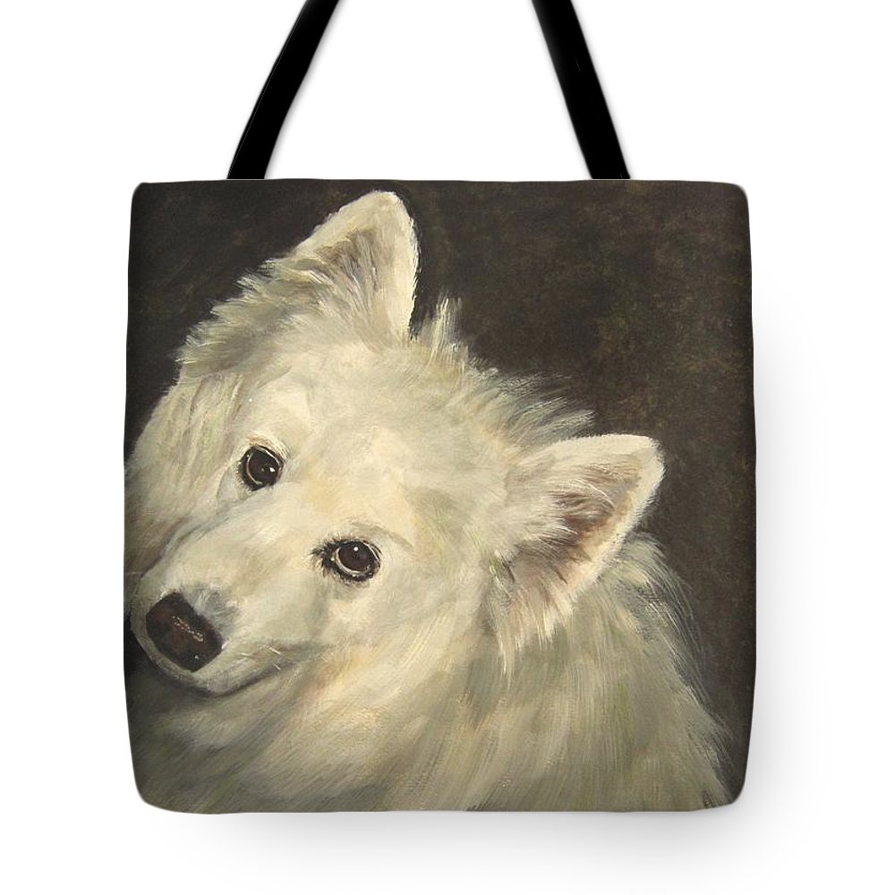 Dogs Tote Bag featuring the painting Noah by Elizabeth Ellis