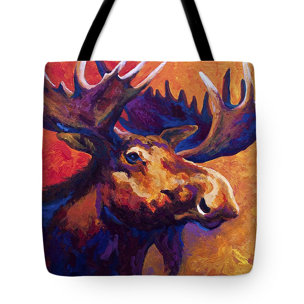 Moose Tote Bag featuring the painting Noble Pause by Marion Rose