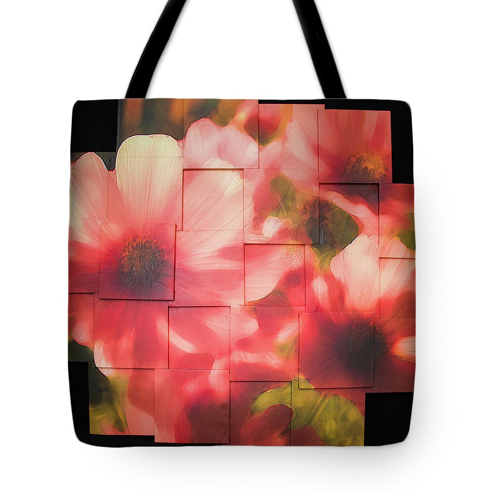 Flower Tote Bag featuring the sculpture Nocturnal Pinks Photo Sculpture by Michael Bessler