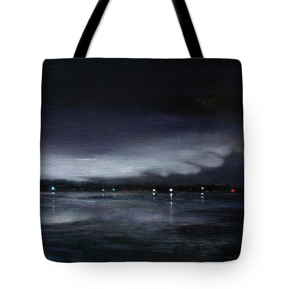 Nocturne Tote Bag featuring the painting Nocturne, Claytor Lake by Doreen Starling