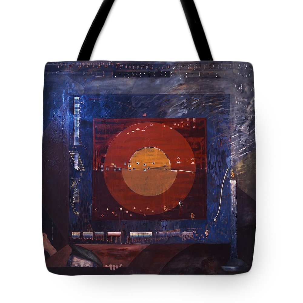 Music Tote Bag featuring the painting Nocturne by Wilfried Senoner