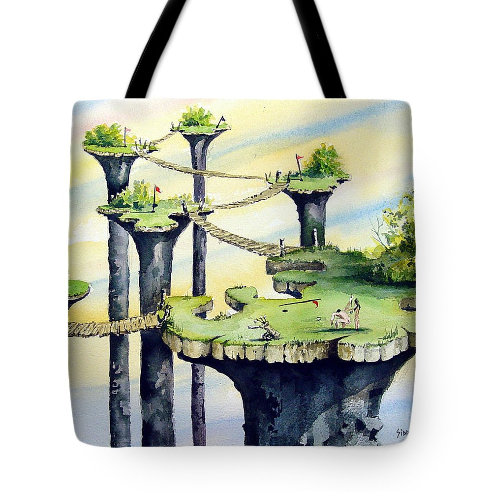 Golf Tote Bag featuring the painting Nod Country Club by Sam Sidders
