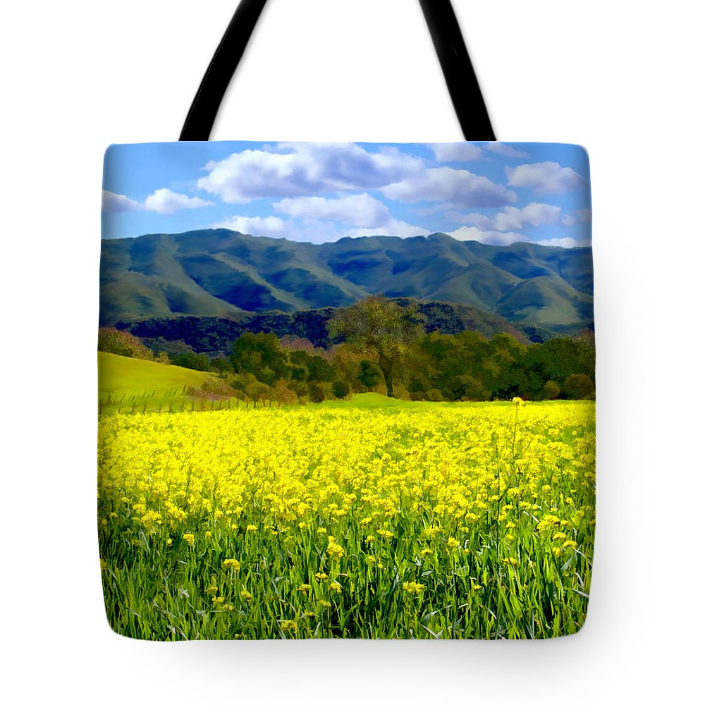 Flowers Tote Bag featuring the photograph Nojoqui Ranch by Kurt Van Wagner