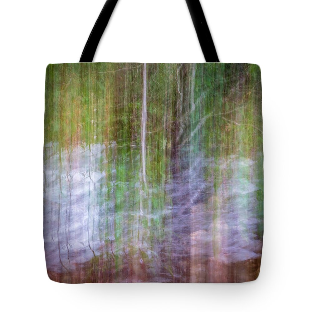 Abstract Tote Bag featuring the photograph Noland Creek Abstract 1 by Gary Bond