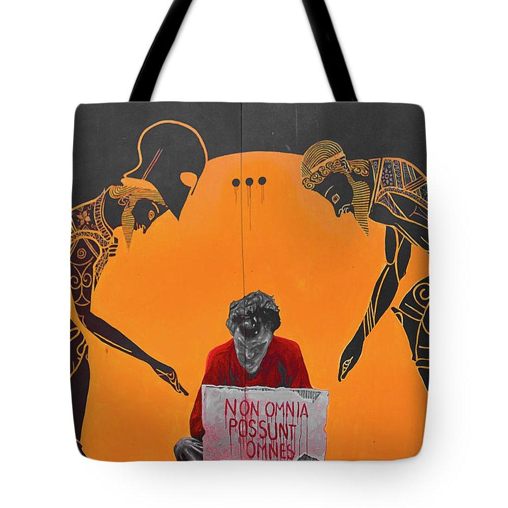 Tote Bag featuring the photograph Non Omnia Possunt Omnes by Franco Macchelli