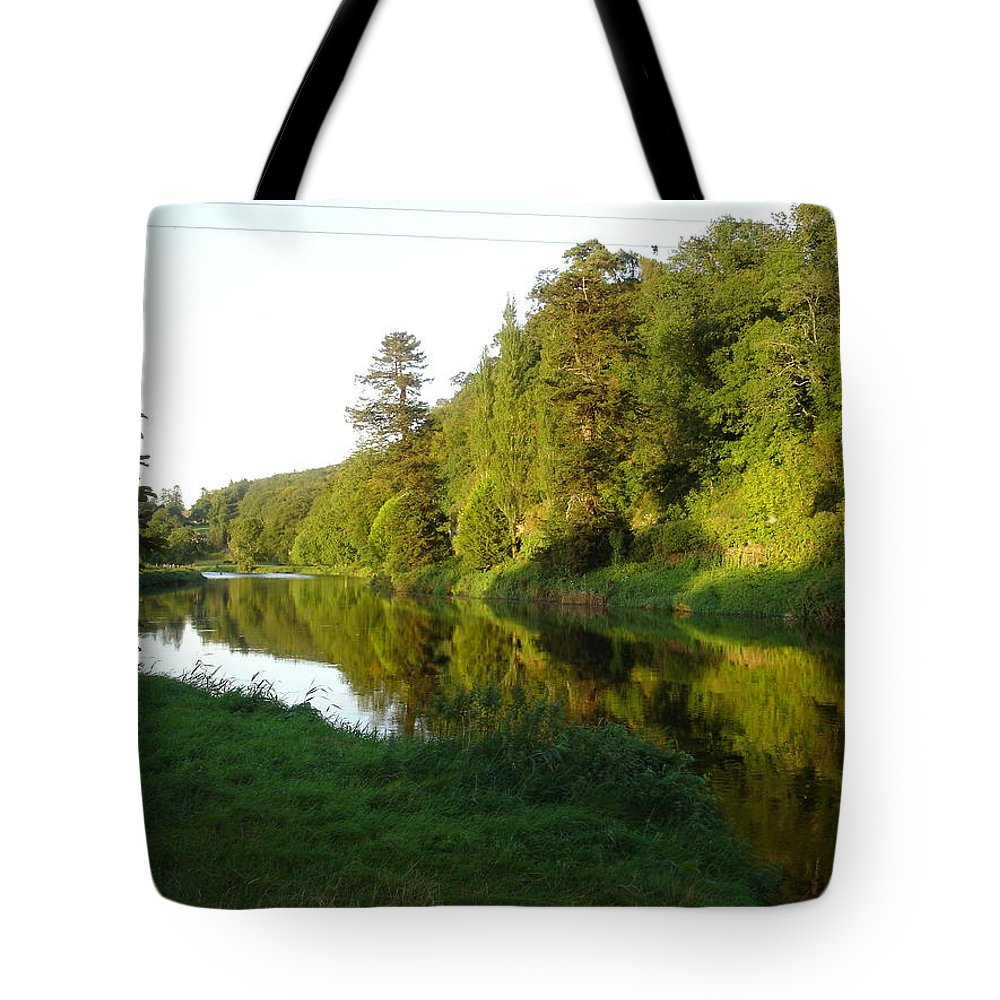 Nore Tote Bag featuring the photograph Nore Reflections I by Kelly Mezzapelle