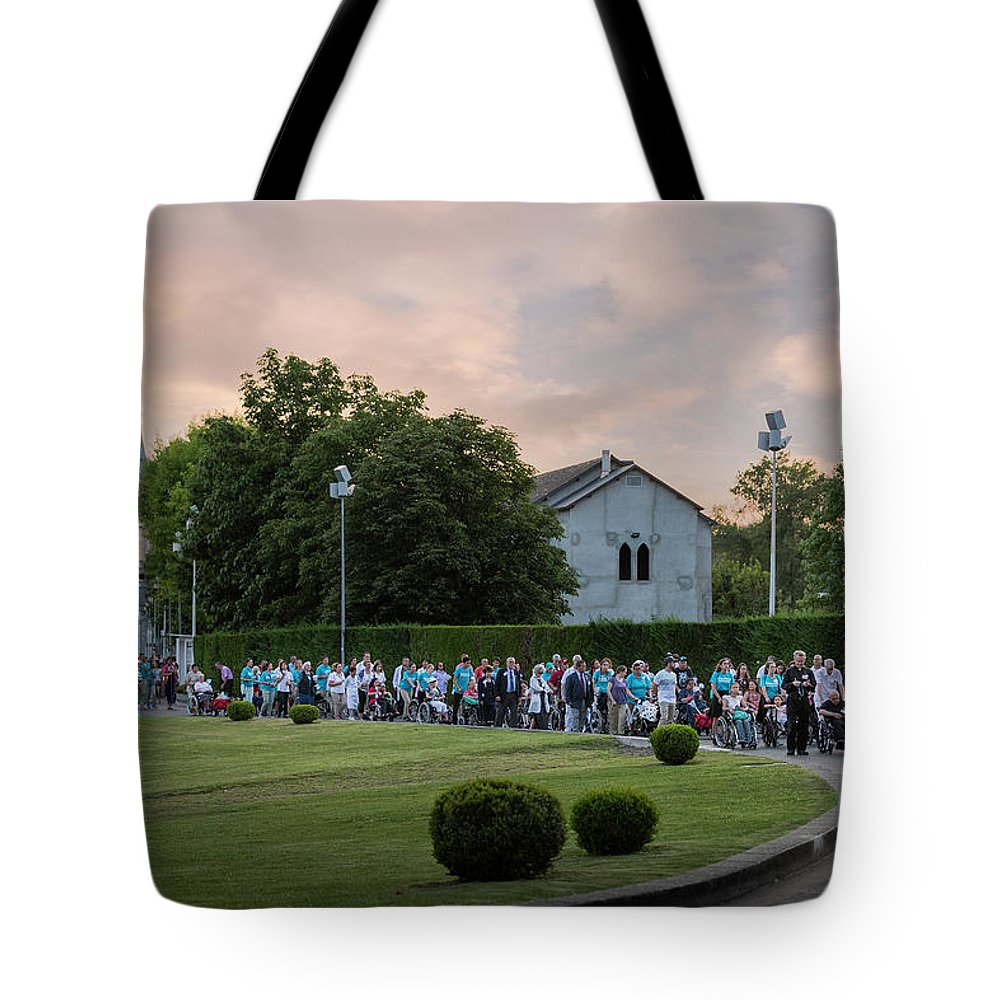 Basilica Tote Bag featuring the photograph North American Volunteers Procession by Everet Regal