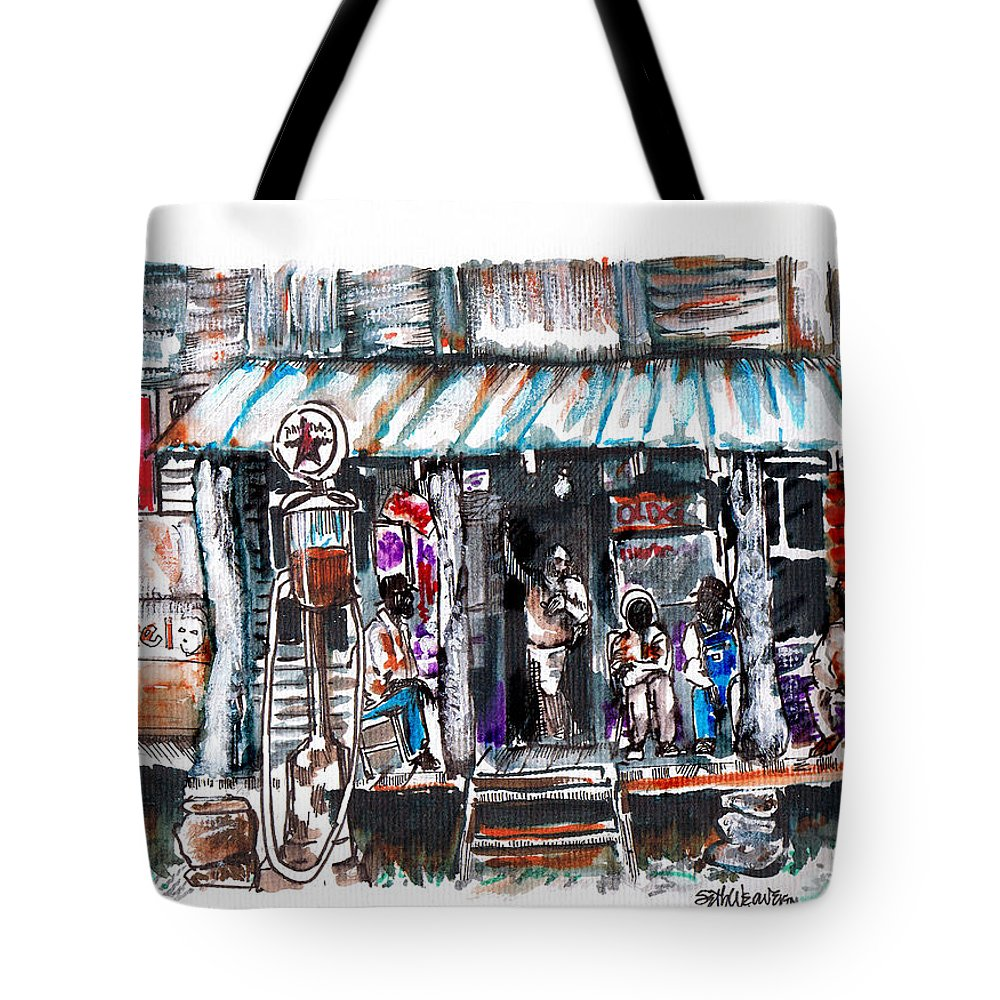 Depression Tote Bag featuring the digital art North Carolina 1939 The Depression by Seth Weaver