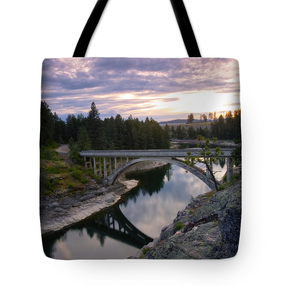 Bridge Tote Bag featuring the photograph North Channel Bridge by Idaho Scenic Images Linda Lantzy