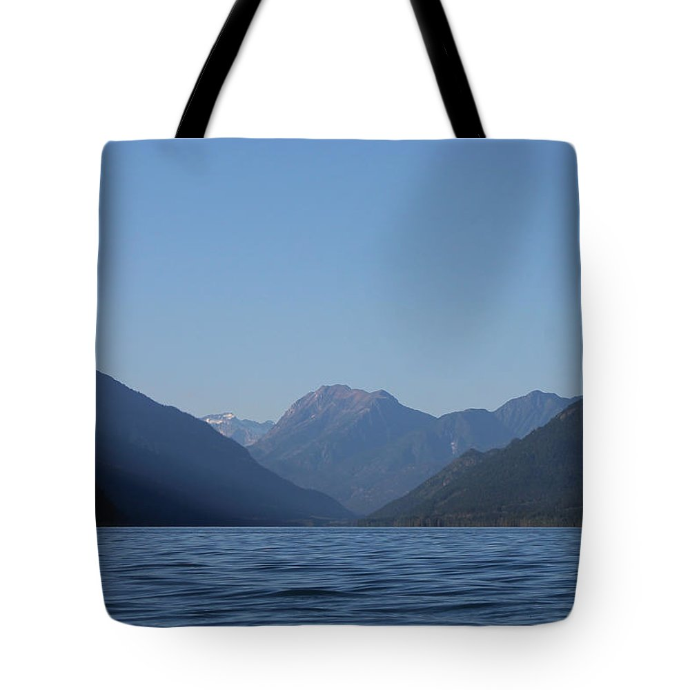 Mountains Tote Bag featuring the photograph North On Duncan by Cathie Douglas