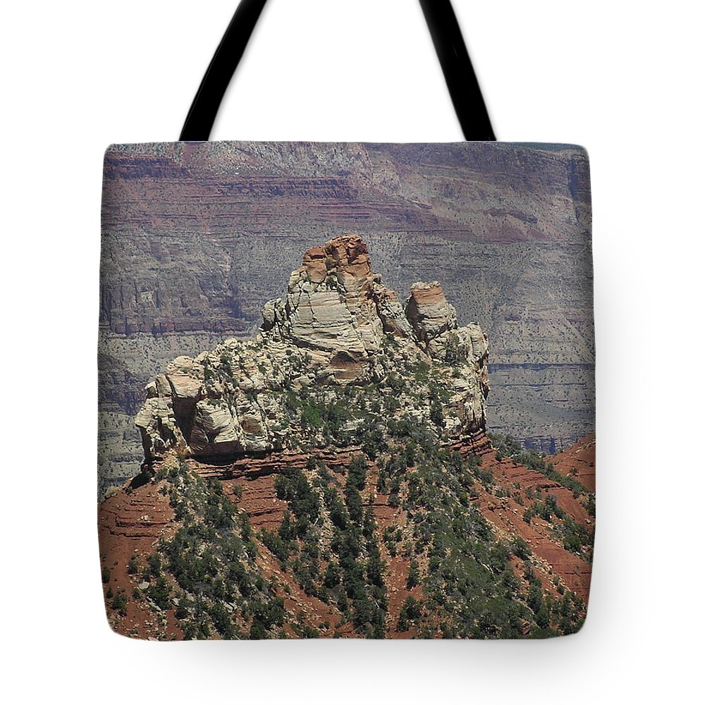 Rock Tote Bag featuring the photograph North Rim Rock by Louise Magno