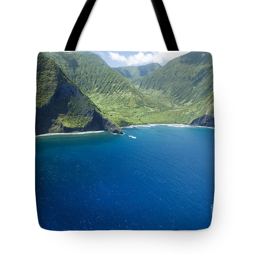 Amazing Tote Bag featuring the photograph North Shore Cliff Coast Line by Peter French - Printscapes