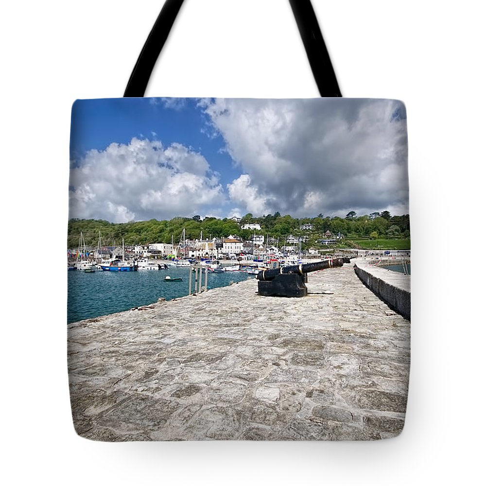 Lyme-regis Tote Bag featuring the photograph North Wall - Lyme Regis by Susie Peek