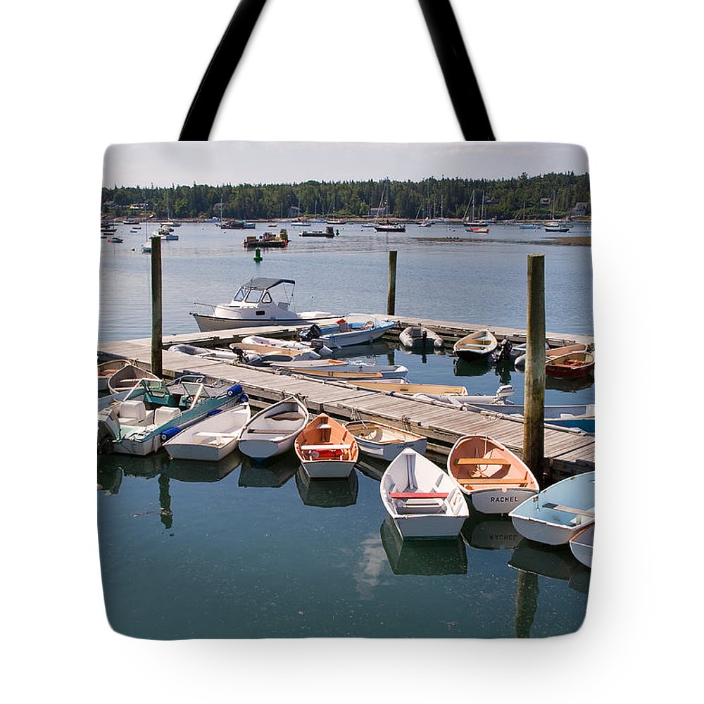 Travel Tote Bag featuring the photograph Northeast Harbor Maine by Louise Heusinkveld