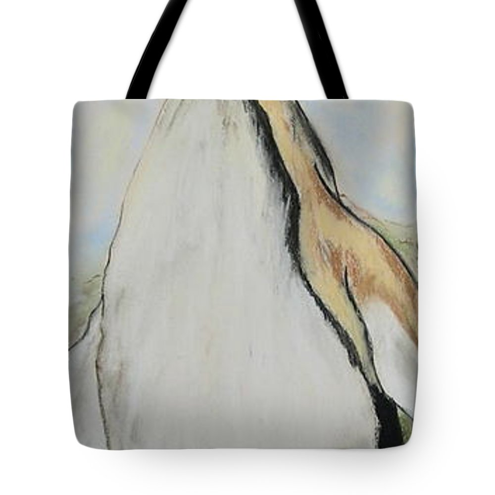 Penguin Tote Bag featuring the drawing Northern Bliss by Cori Solomon