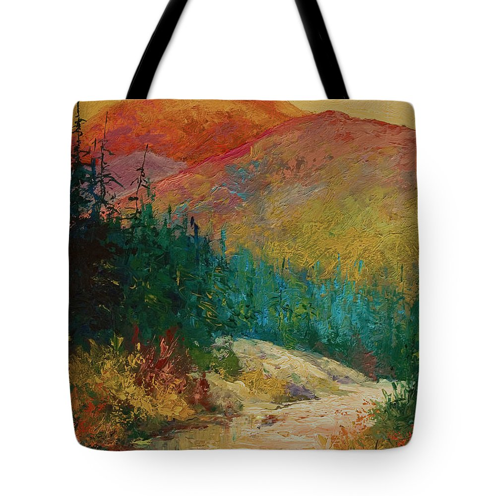 Alaska Tote Bag featuring the painting Northern Essence by Marion Rose