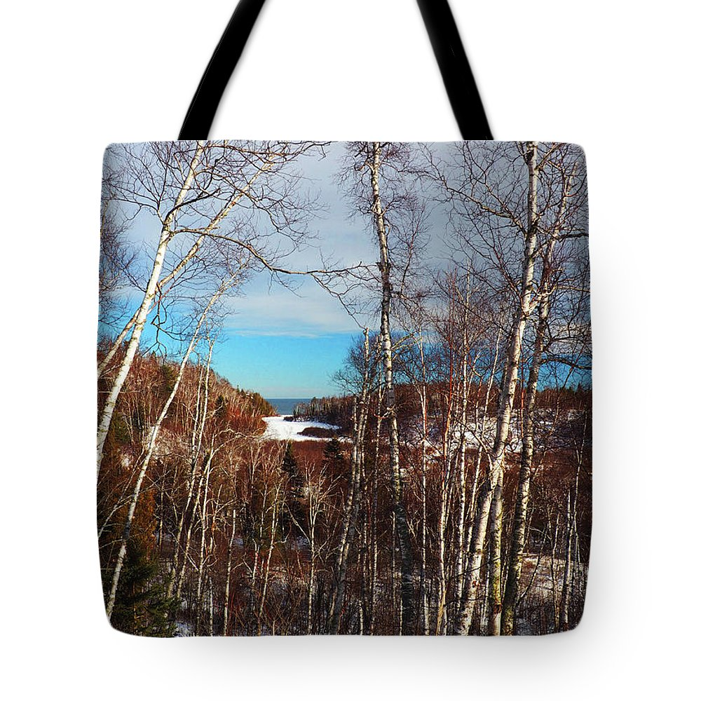 Grand Marais Tote Bag featuring the photograph Northern Minnesota by Diane Shirley