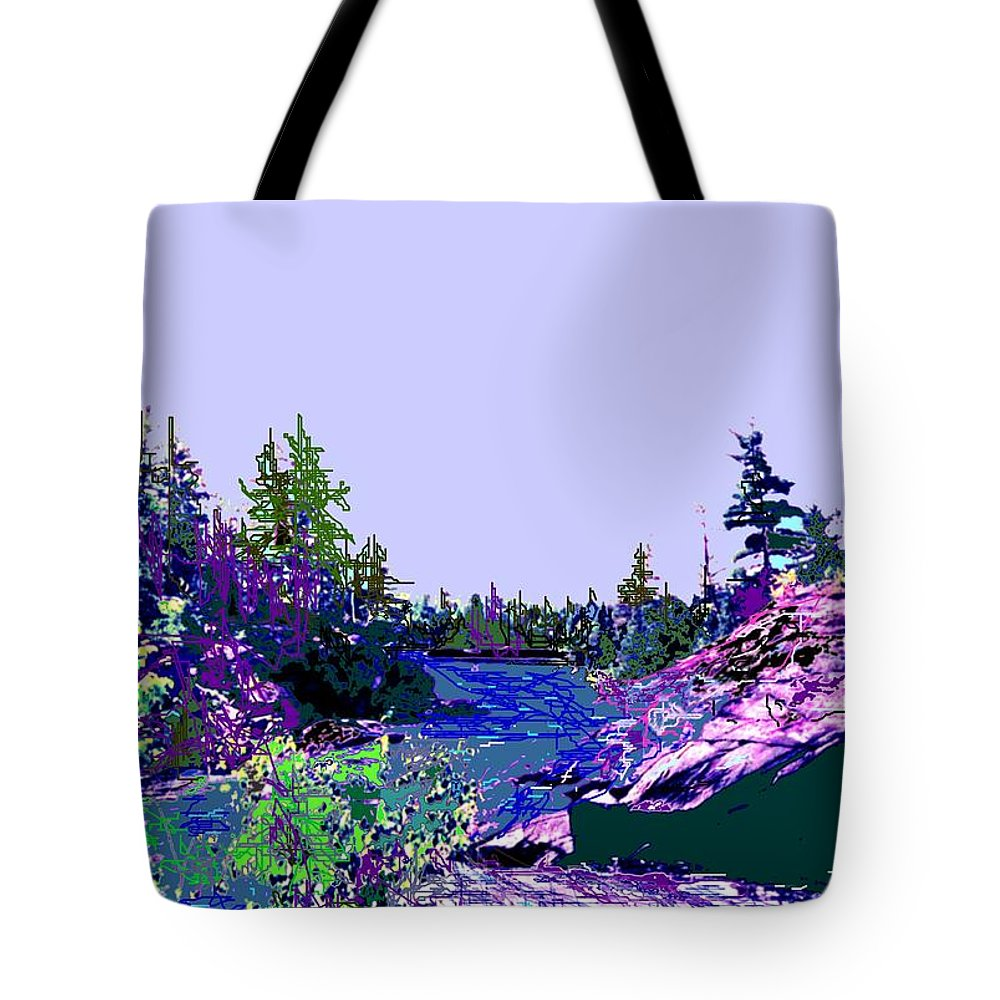 Norlthern Tote Bag featuring the photograph Northern Ontario River by Ian MacDonald