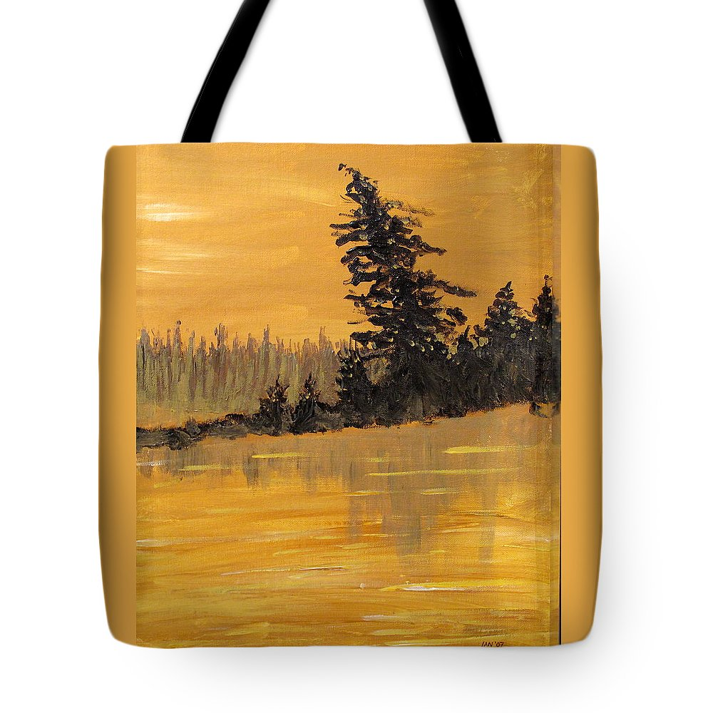 Northern Ontario Tote Bag featuring the painting Northern Ontario Three by Ian MacDonald