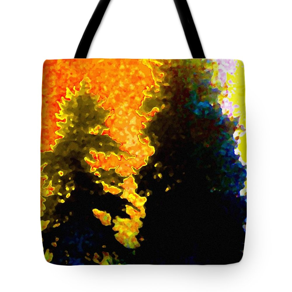 Abstract Tote Bag featuring the digital art Northern Sunrise by Will Borden