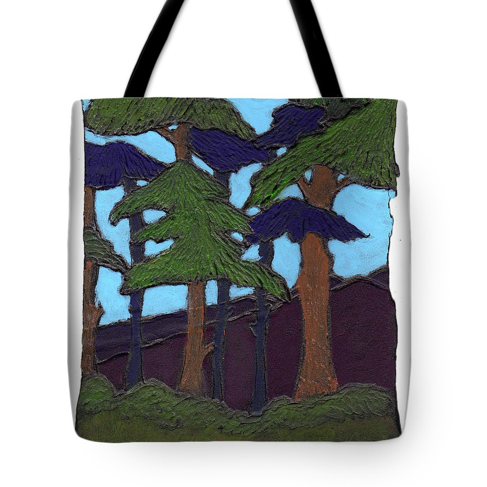 Tree Tote Bag featuring the painting Northern Woods by Wayne Potrafka