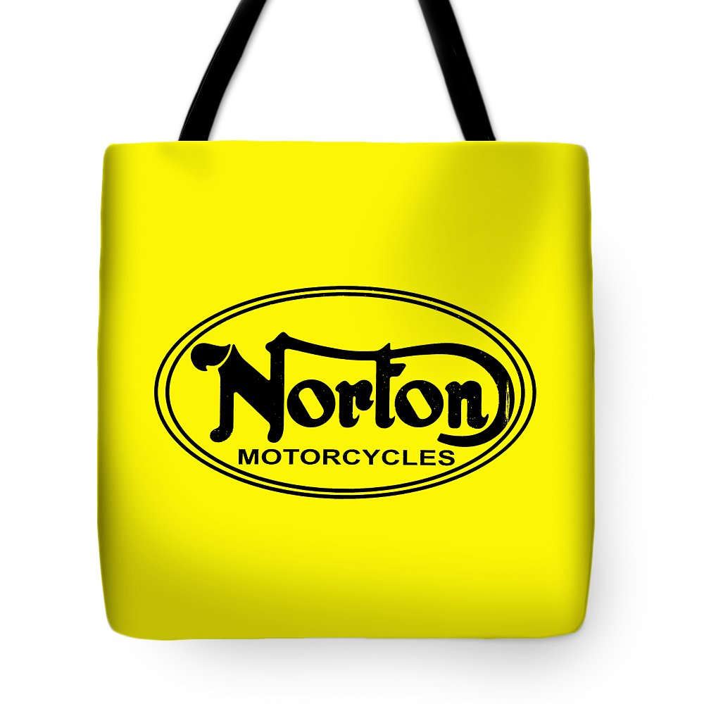 Norton Motorcycle Tote Bag featuring the photograph Norton Motorcycles by Mark Rogan