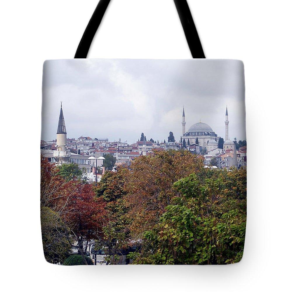 Inna Nedzelskaia Tote Bag featuring the photograph Nostalgia Of The Autumn In Istanbul by Inna Nedzelskaia
