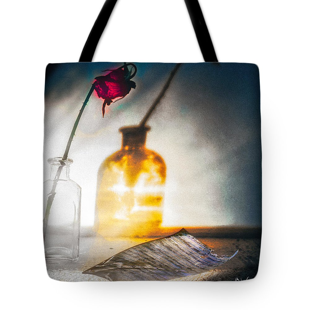 Flower Tote Bag featuring the photograph Notes Forgotten by Bob Orsillo