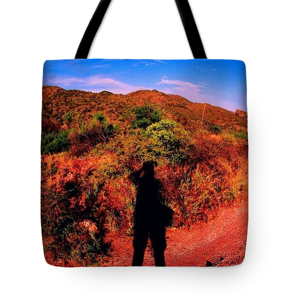 Tote Bag featuring the photograph Nothing But A Shadow by Paul Wilson