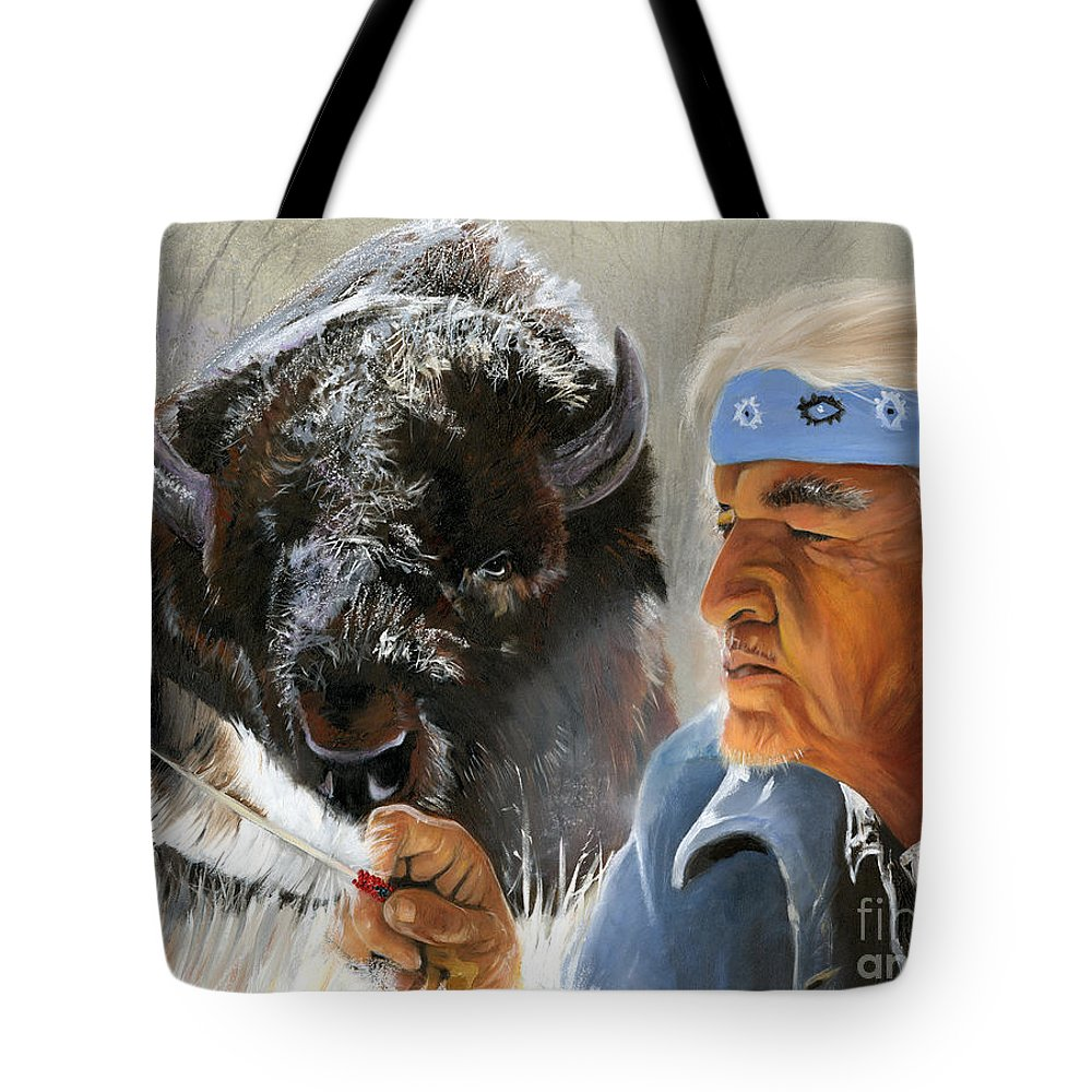 Southwest Art Tote Bag featuring the painting Nothing Is Ever Forgotten by J W Baker