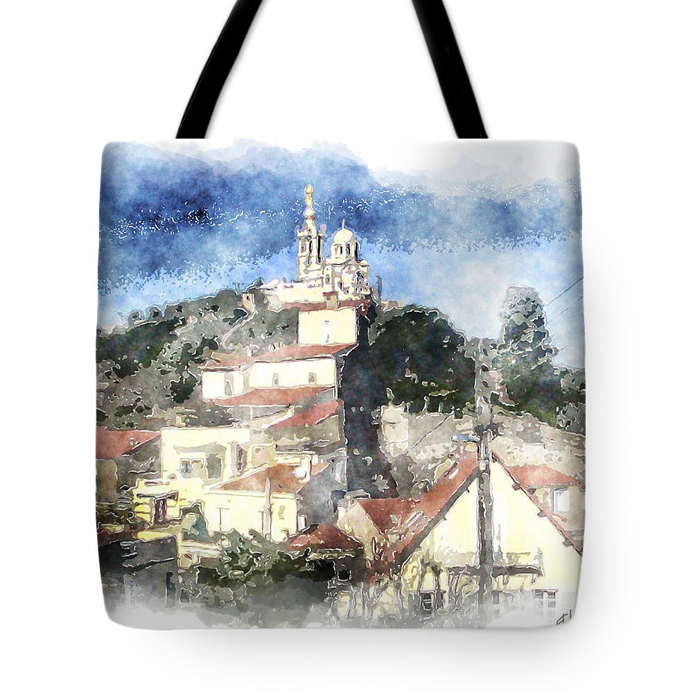 Notre Dame Tote Bag featuring the photograph Notre Dame De La Garde-marseille by Arline Wagner