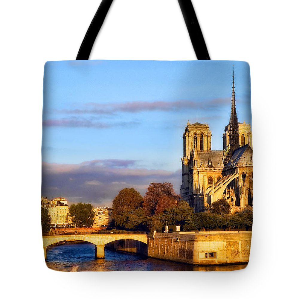 Notre Dame Tote Bag featuring the photograph Notre Dame by Mick Burkey