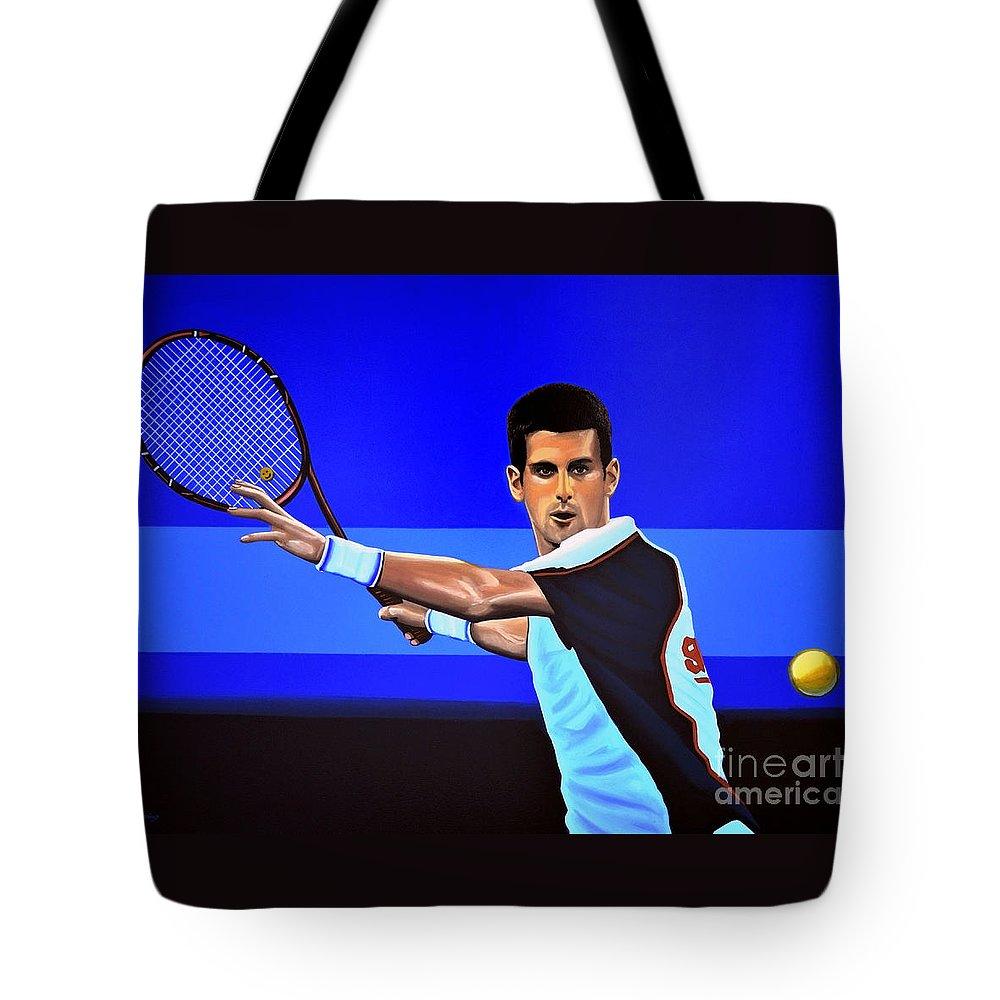 Novak Djokovic Tote Bag For Sale By Paul Meijering
