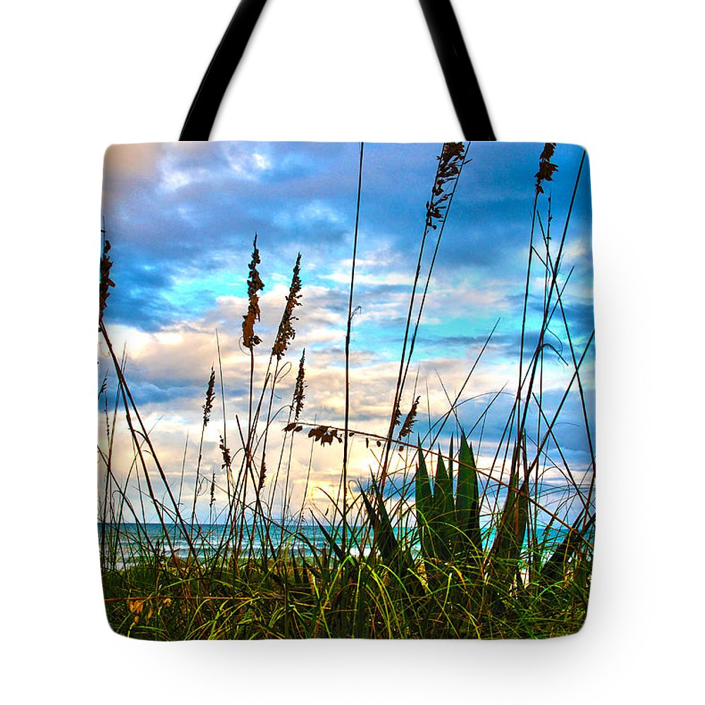 Beach Tote Bag featuring the photograph November Day At The Beach In Florida by Susanne Van Hulst