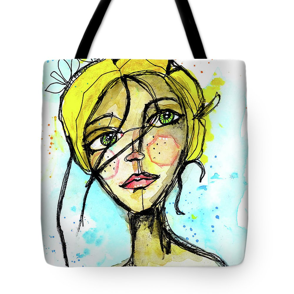 Portrait Tote Bag featuring the painting November Jane by Tonya Doughty