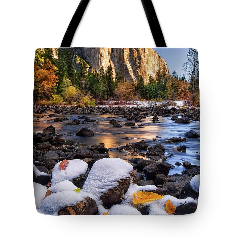 Yosemite Tote Bag featuring the photograph November Morning by Anthony Michael Bonafede
