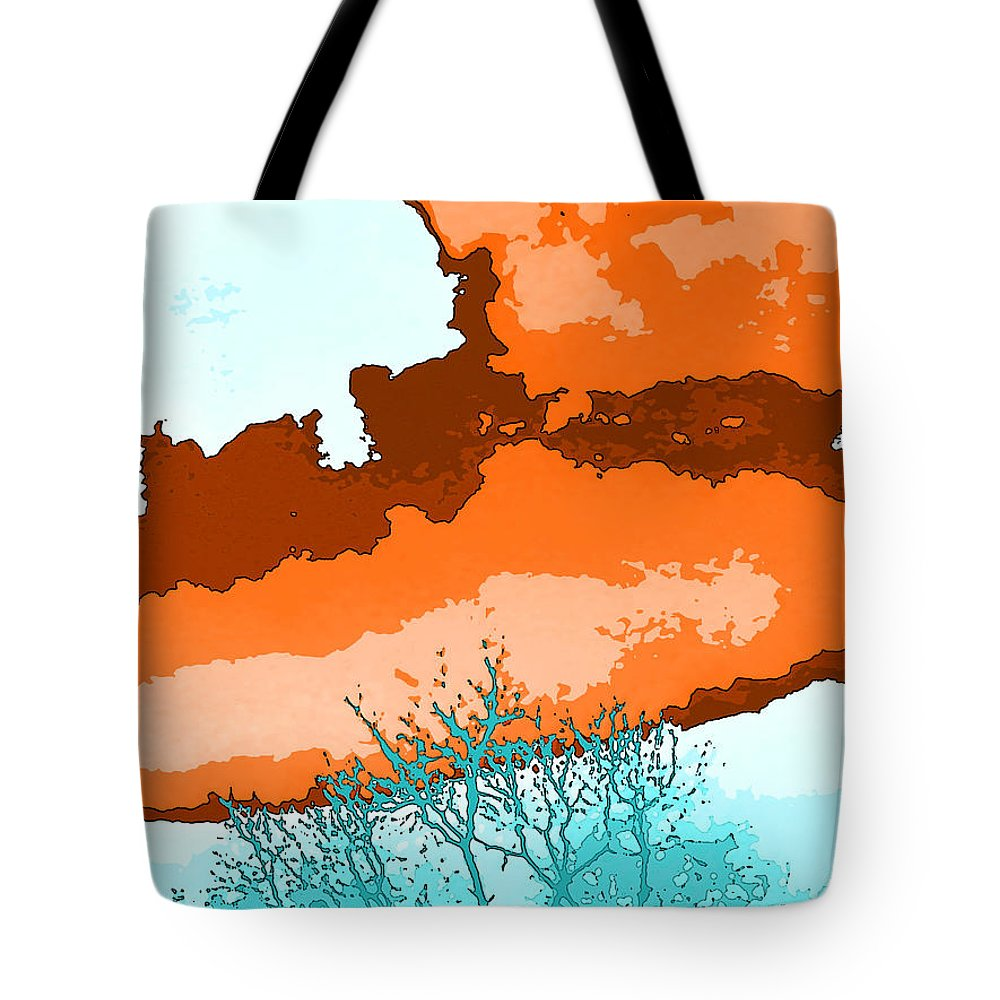 Abstract Tote Bag featuring the photograph November Sky by Lenore Senior