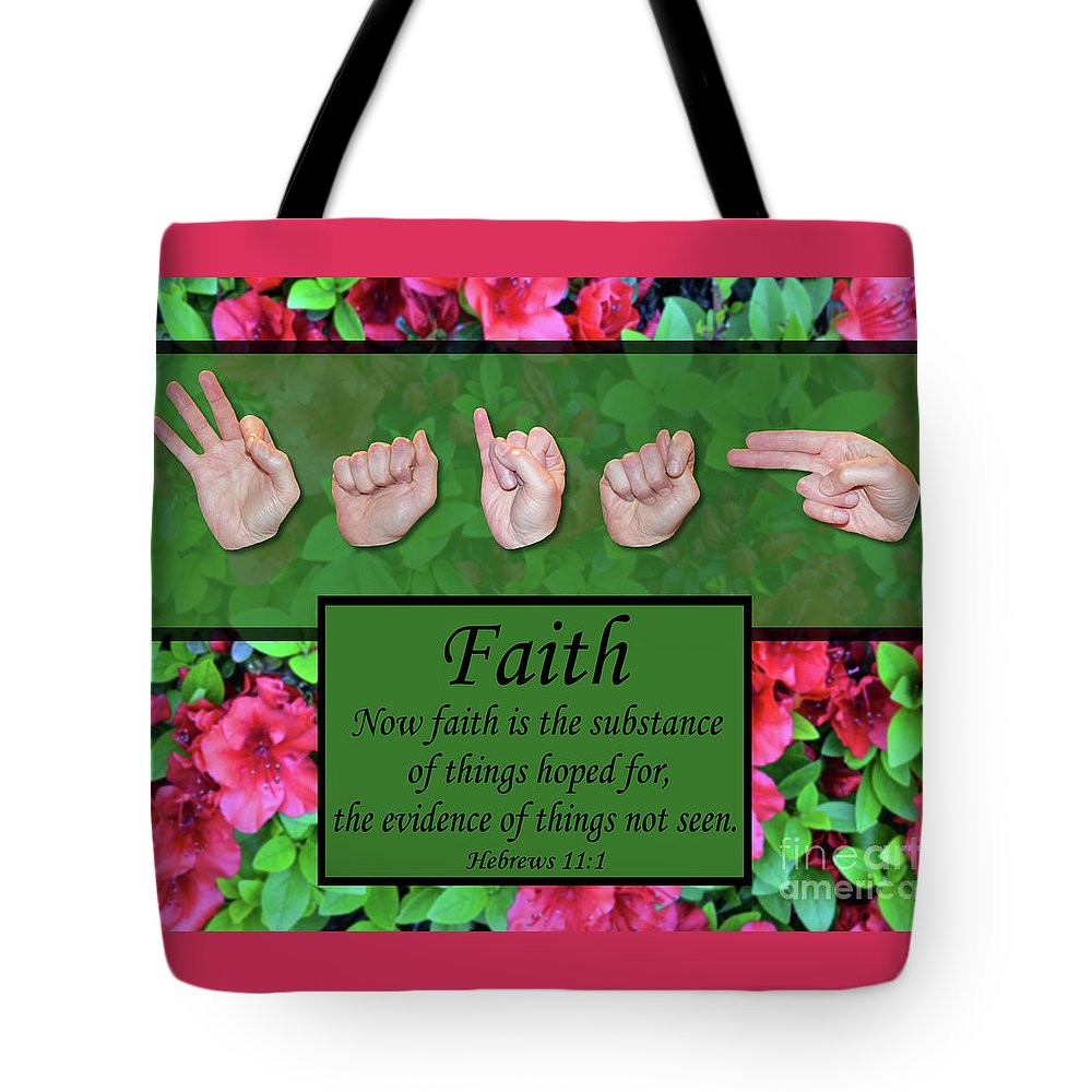 Christian Tote Bag featuring the photograph Now Faith by Master's Hand Collection