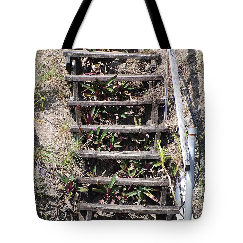 Stairs Tote Bag featuring the photograph Nowhere Stairs by Rob Hans