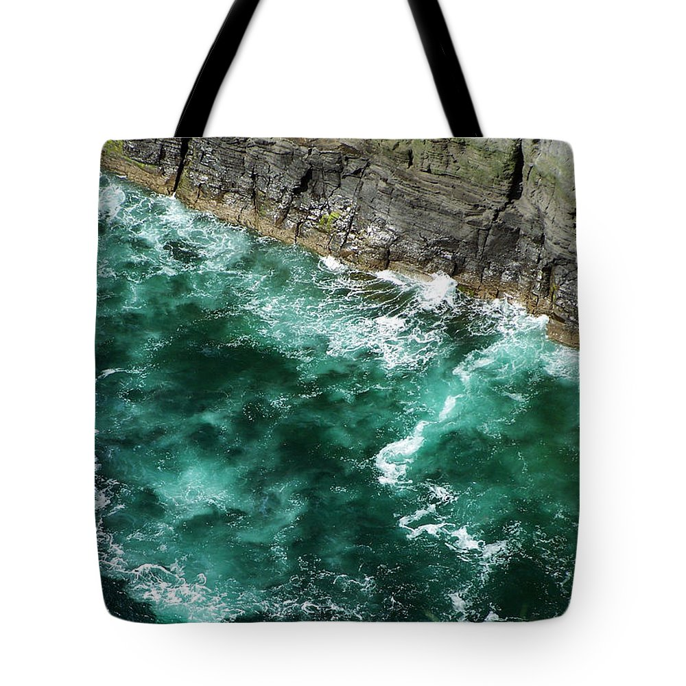 Irish Tote Bag featuring the photograph Nowhere To Go Cliffs Of Moher Ireland by Teresa Mucha