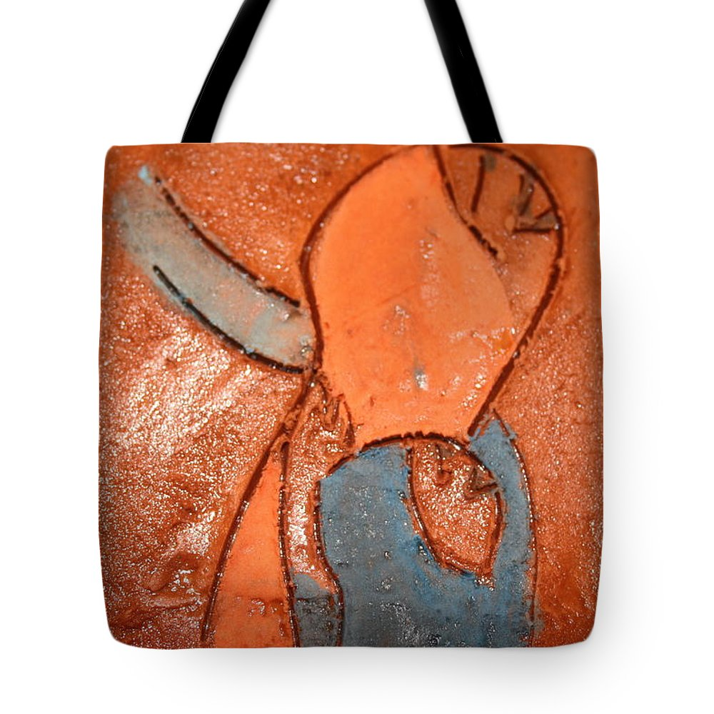 Jesus Tote Bag featuring the ceramic art Nsitula - Tile by Gloria Ssali