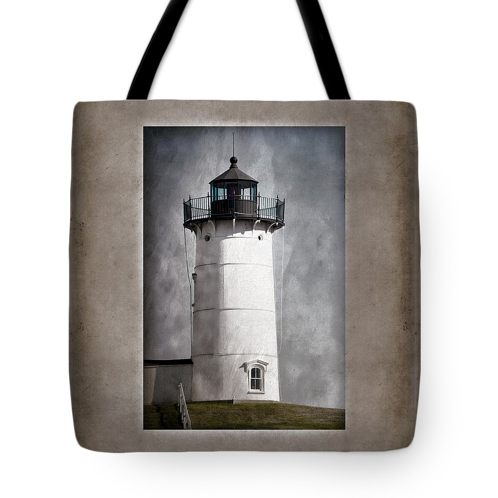Cape Neddick Tote Bag featuring the photograph Nubble Light Maine by Carol Leigh
