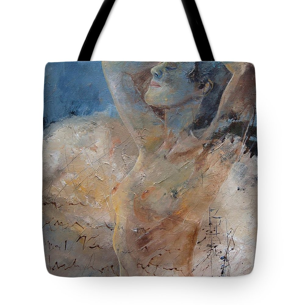 Nude Tote Bag featuring the painting Nude 0508 by Pol Ledent