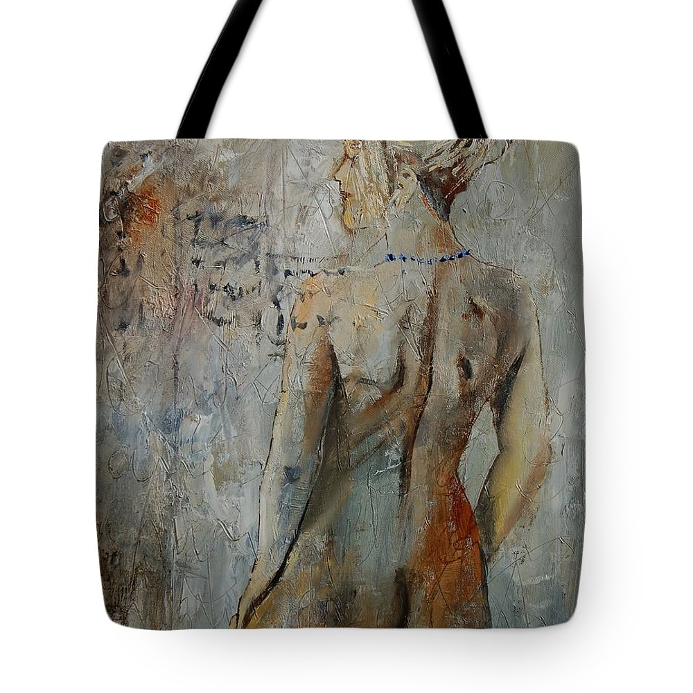 Girl Tote Bag featuring the painting Nude 459020 by Pol Ledent