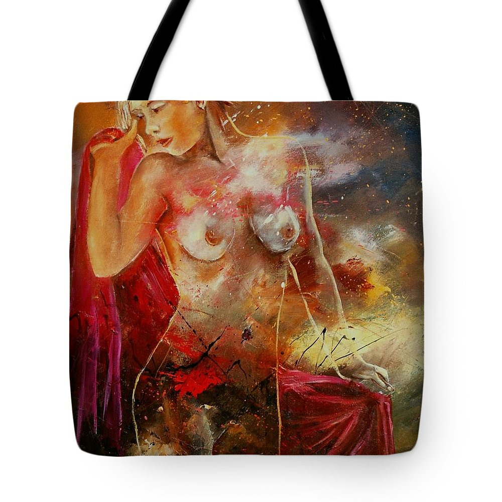 Nude Tote Bag featuring the painting Nude 561008 by Pol Ledent