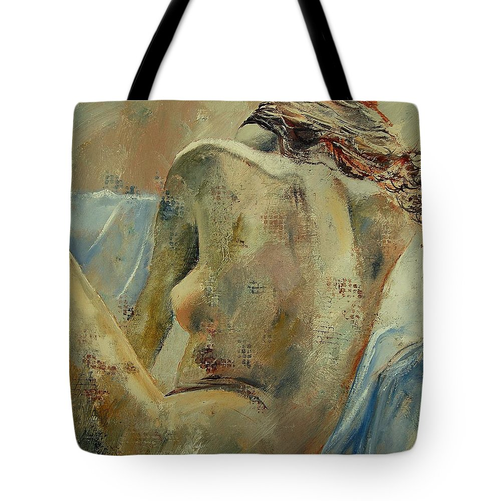 Tote Bag featuring the painting Nude 56905092 by Pol Ledent