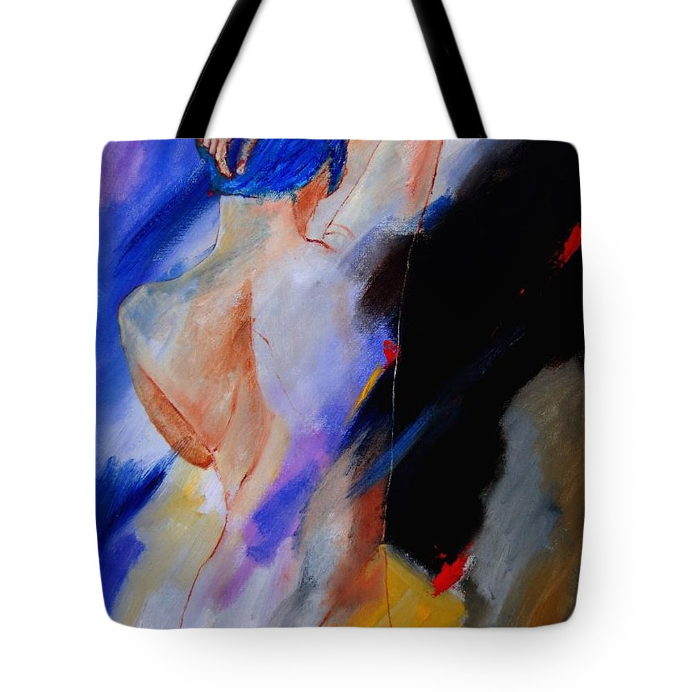 Nude Tote Bag featuring the painting Nude 579020 by Pol Ledent