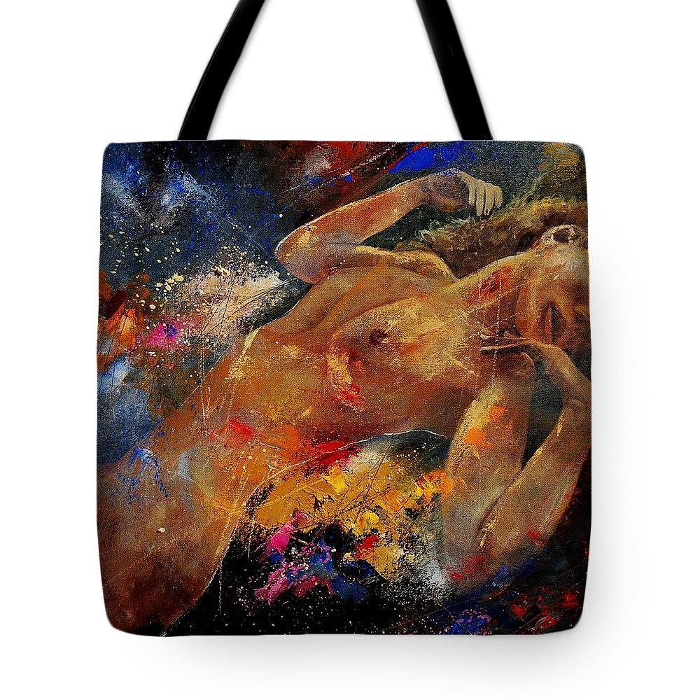 Nude Tote Bag featuring the painting Nude 67 0407 by Pol Ledent
