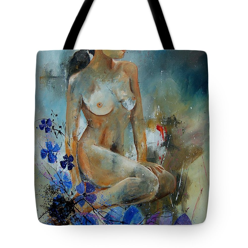 Girl Tote Bag featuring the painting Nude 67 by Pol Ledent