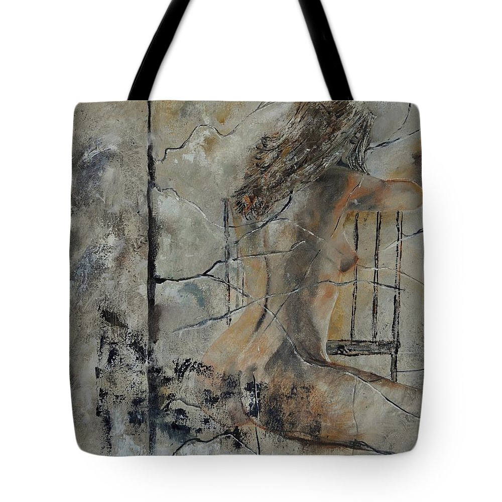 Nude Tote Bag featuring the painting Nude 910111 by Pol Ledent